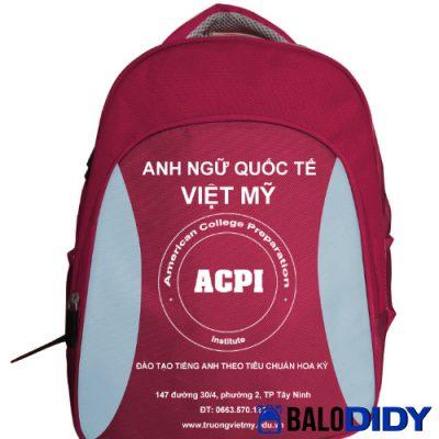 Balo quà tặng trường Anh ngữ quốc tế ACPI